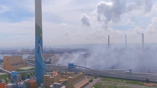 中火煤送帶倉輸起火害空污 中市府重罰500萬 | 華視新聞
