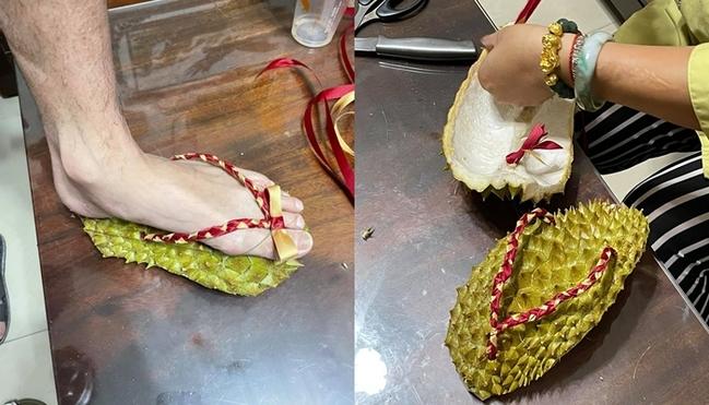 防疫宅在家創意激發! 人妻製「榴槤拖鞋」促血液循環... | 華視新聞