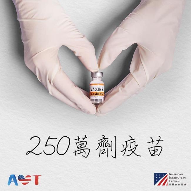 美贈台疫苗大增為250萬劑!AIT:明天抵台 | 華視新聞