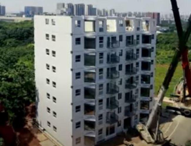 10樓高住宅 中國建商僅花「28小時」蓋完   華視新聞