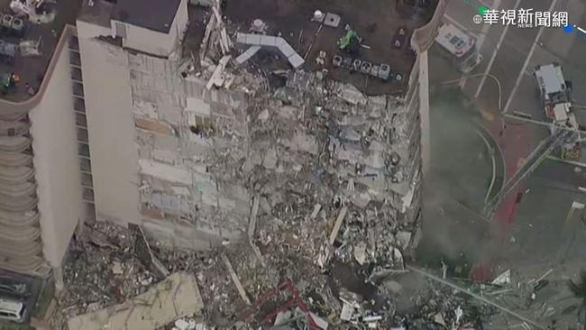 邁阿密公寓樓局部坍塌 至少1死百失聯 | 華視新聞
