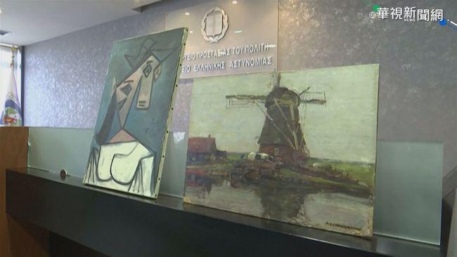 畢卡索名畫尋獲 展台滑落虛驚一場 | 華視新聞