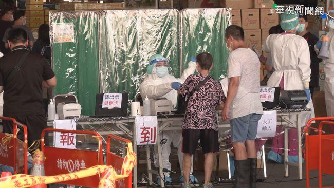 北市批發市場昨PCR篩3610人 再增9人確診 | 華視新聞