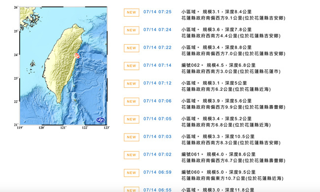 地牛狂翻身!花蓮清晨一小時內連續17震 | 華視新聞