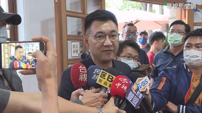 江啟臣贈花籃16字嗆聲 意外讚蘇貞昌「光明正大、不投機」   華視新聞