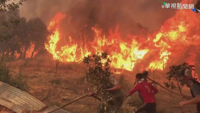 野火蔓延環地中海 義大利48.8度創新高   華視新聞
