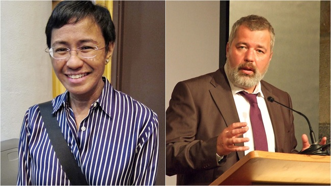 諾貝爾和平獎頒給2新聞人 「捍衛言論自由」獲肯定 | 華視新聞