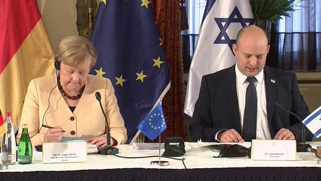 梅克爾卸任前訪以色列 重申安全承諾   華視新聞